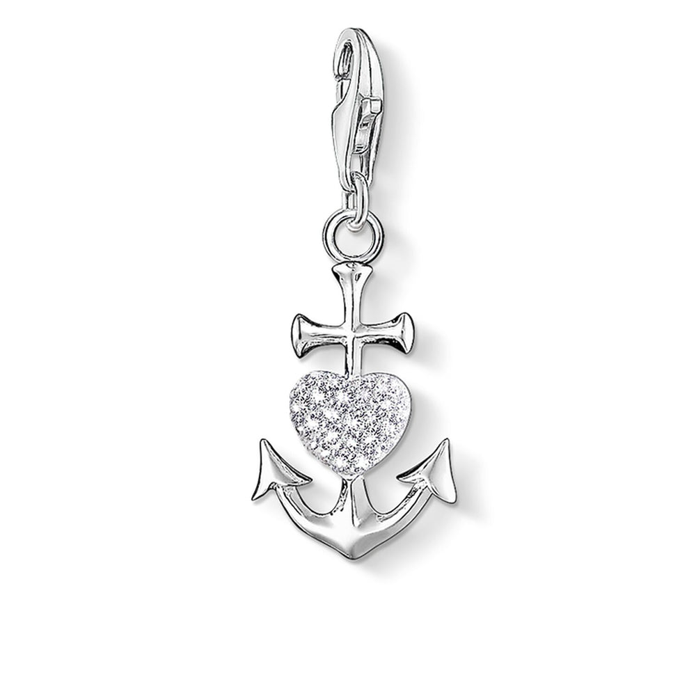 "Charm Pendant ""Anchor With Heart"""