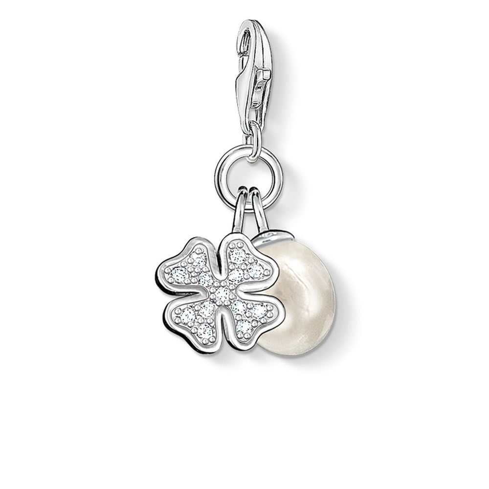 "Charm Pendant ""Cloveleaf With Pearl"""