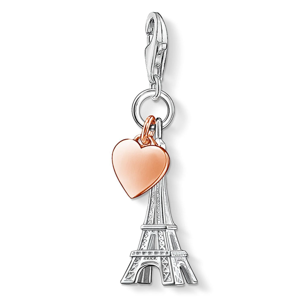 "Charm Pendant ""Eiffel Tower With Heart"""