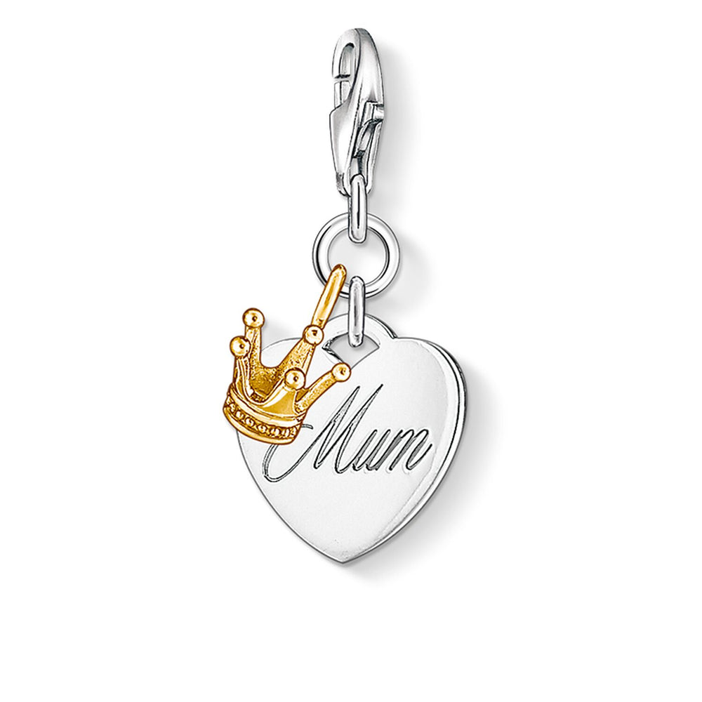 "Charm Pendant ""MUM Heart With Crown"""