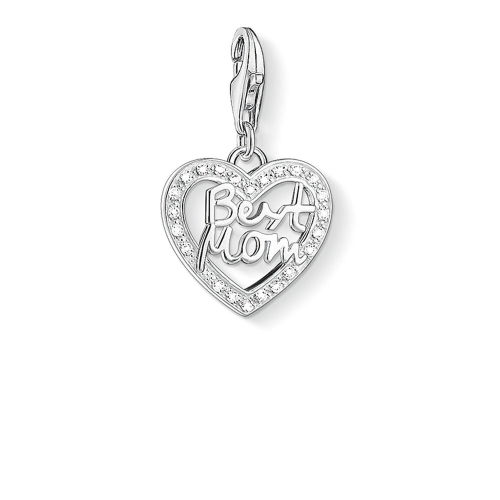 "Charm Pendant ""Heart BEST MOM"""
