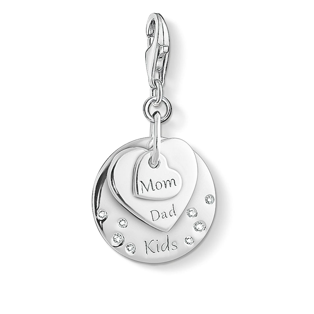 "Charm Pendant ""Hearts MOM, DAD, KIDS"""