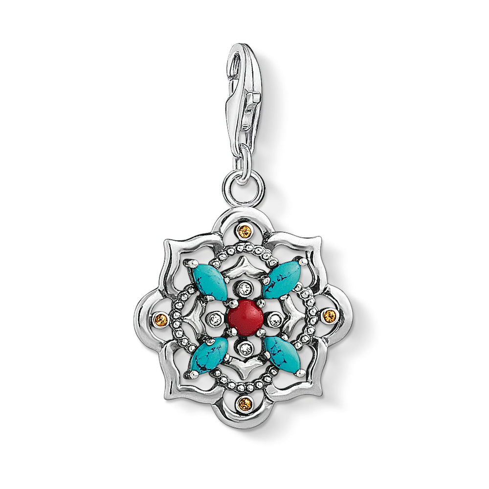 "Charm Pendant ""Ethnic Lotus Flower """