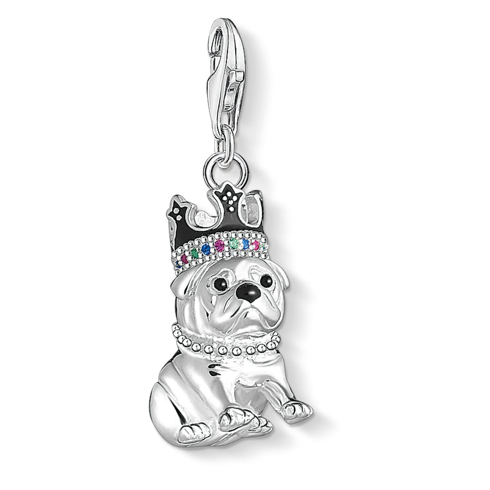 "Charm Pendant ""Bulldog With Crown"""