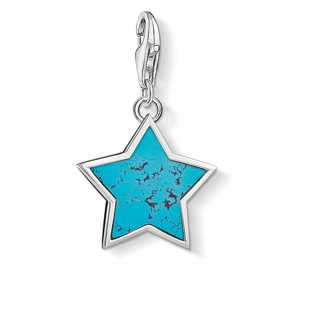 "Charm Pendant ""Turquoise Star"""