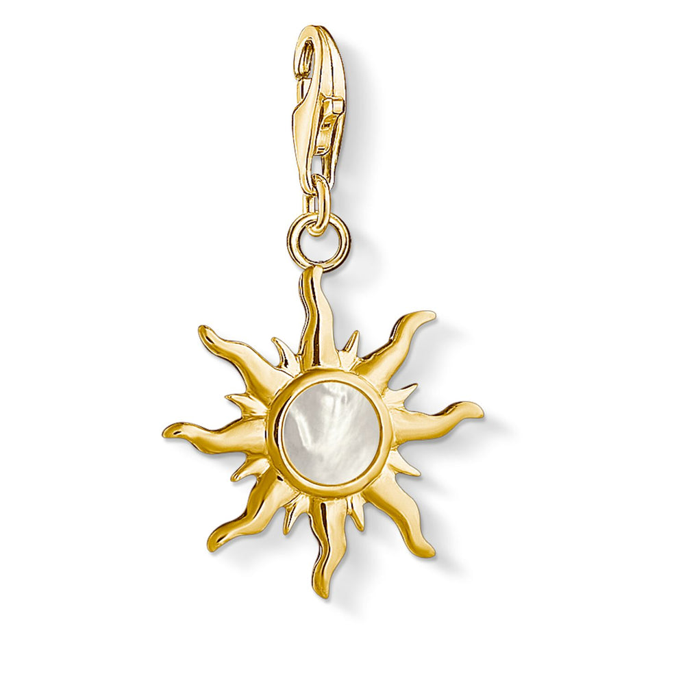 "Charm Pendant ""Sun With Mother-of-pearl Stone"""
