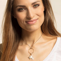 "Charm Pendant ""Star Mother-of-pearl"""