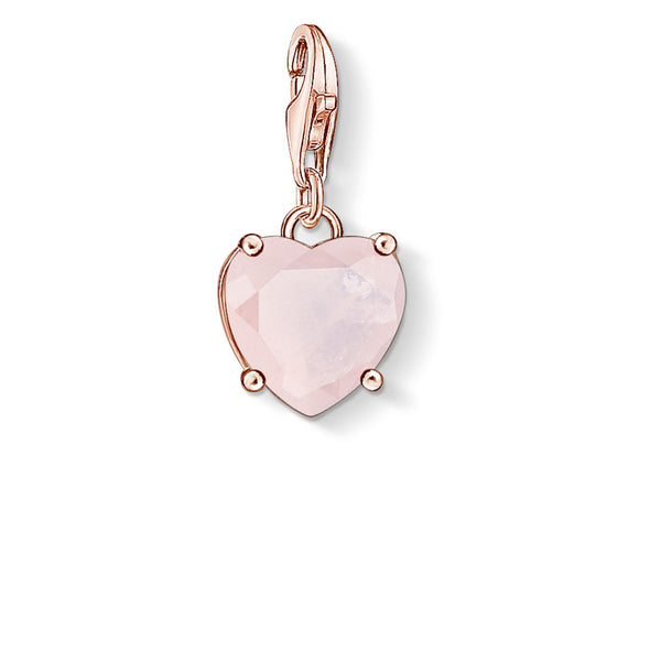 "Charm Pendant ""Heart With Hot Pink Stone"" - THOMAS SABO Malaysia"