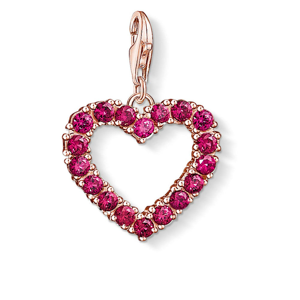 "Charm Pendant ""Red Heart"""
