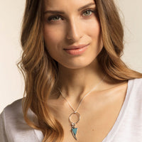 "Charm Pendant ""Triangle Turquoise"""