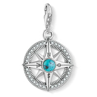 "Charm pendant ""compass turquoise"""