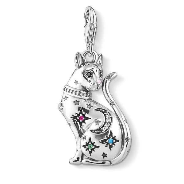 Charm Pendant Cat Constellation Silver