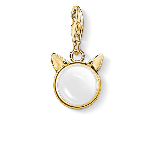 Charm Pendant Cat's Ears, Gold