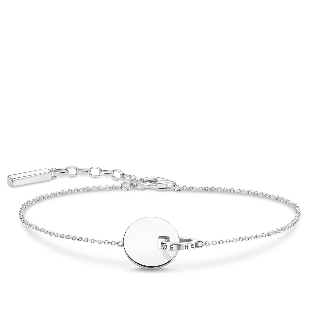 Bracelet Together Coin With Silver-coloured Ring