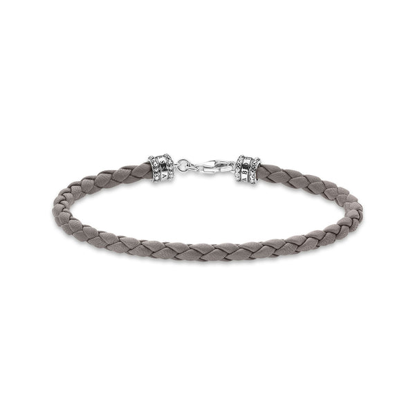 Leather Bracelet Grey
