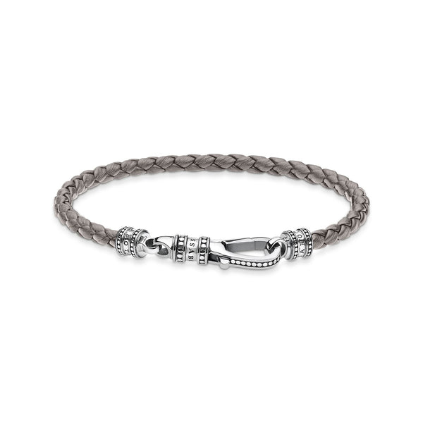 Leather Bracelet Grey | Thomas Sabo Malaysia