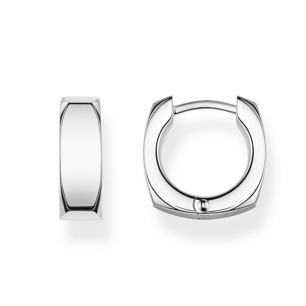 Hoop Earrings Minimalist Silver