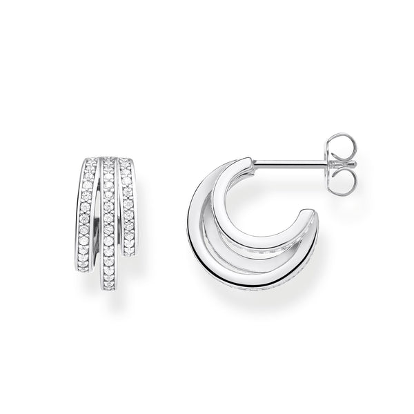 Hoop Earrings Silver Rings