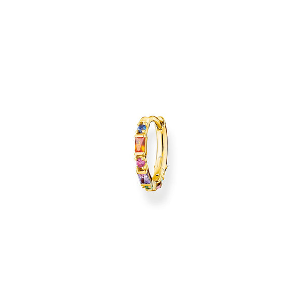 Single Hoop Earring Colourful Stones Gold | Thomas Sabo Malaysia