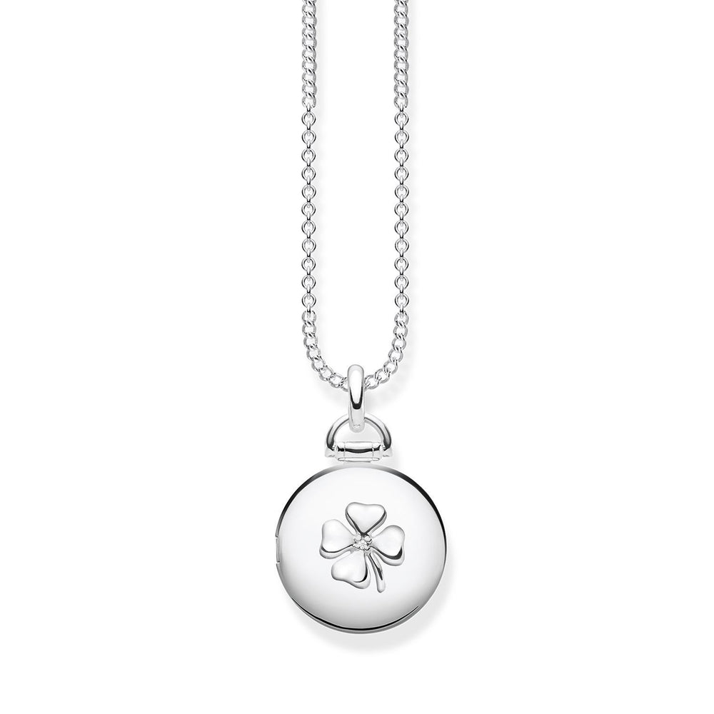 "Necklace ""Locket cloverleaf round"""