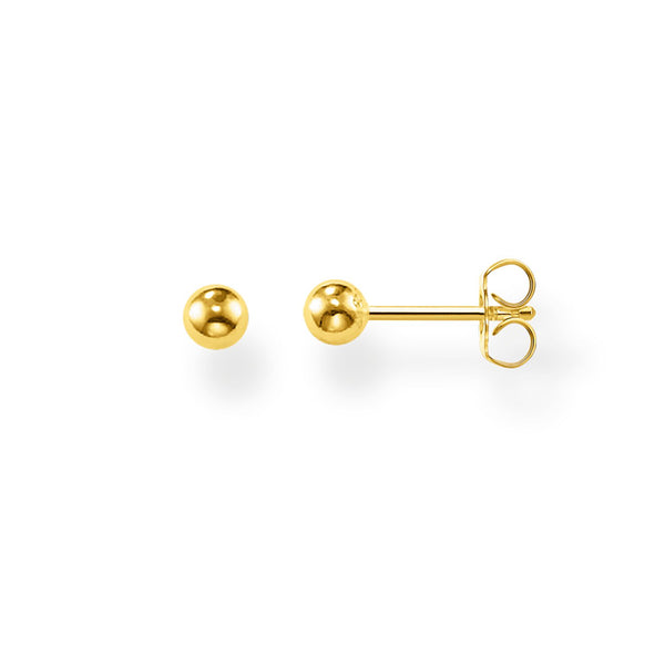 Ear Studs Golden Bead