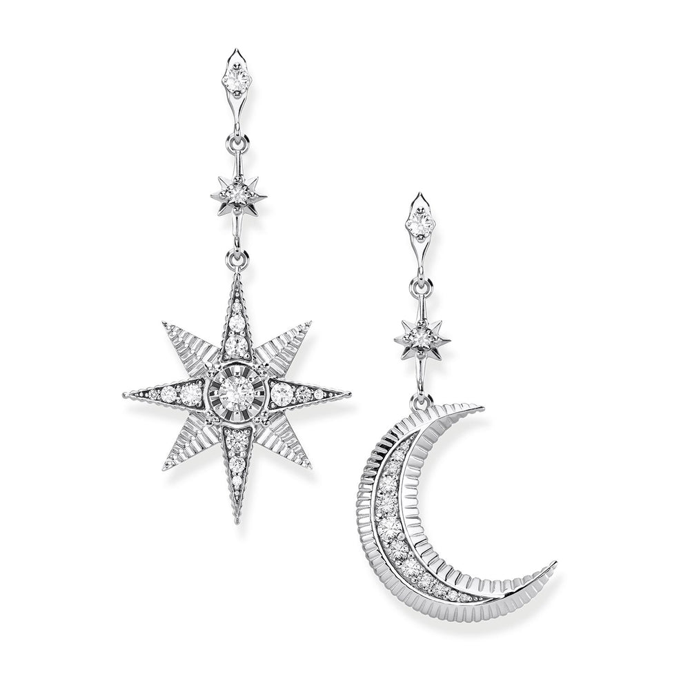 "Earrings ""Royalty Star & Moon"""