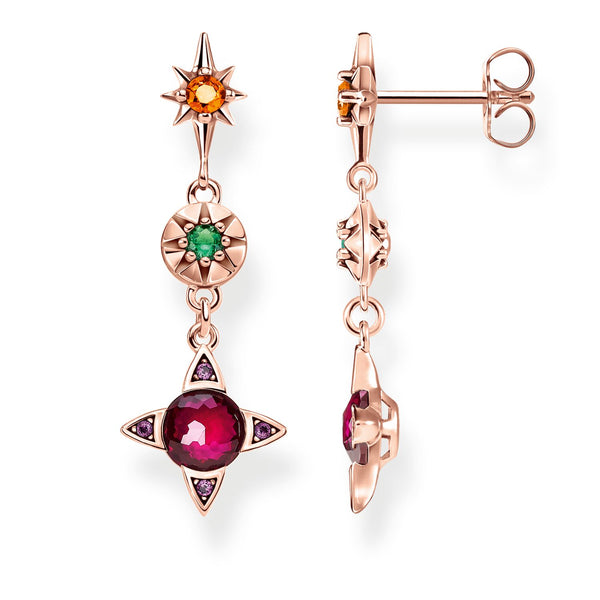 Earrings Colourful Lucky Symbols