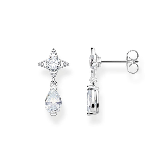 Earrings White Droplet