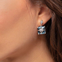Ear Studs Blue Stone With Star