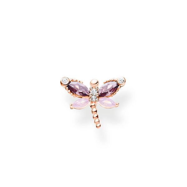 Single Ear Stud Dragonfly Rose Gold | Thomas Sabo Malaysia