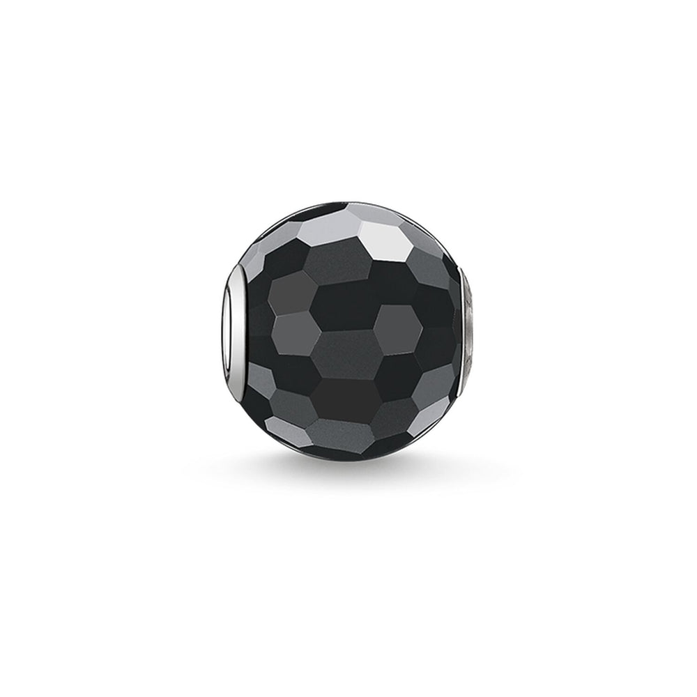 "Bead ""Obsidian Faceted"""