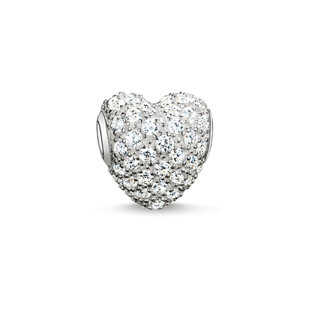 "Bead ""White Pavé Heart"""