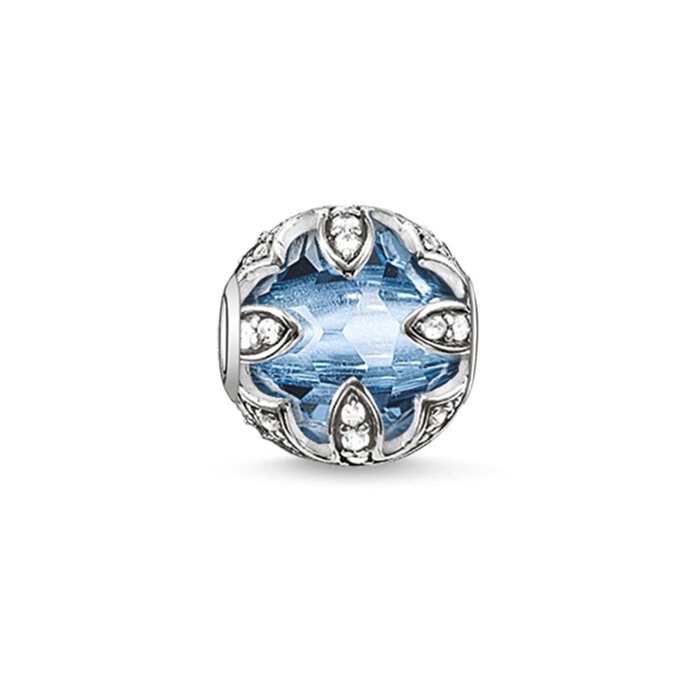 "Bead ""Light-blue Lotus"""