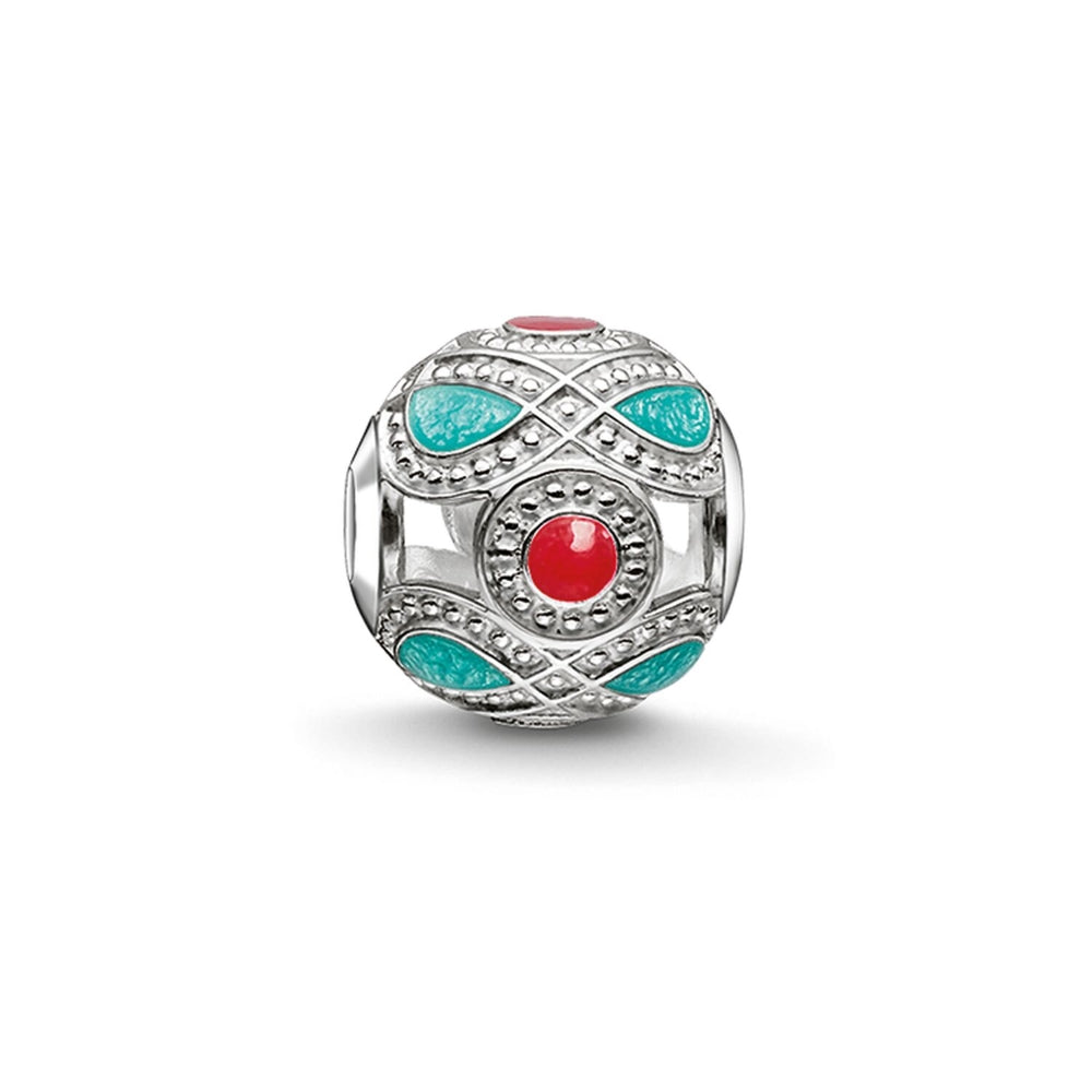 "Bead ""Turquoise And Red Ethnic"" - THOMAS SABO Malaysia"