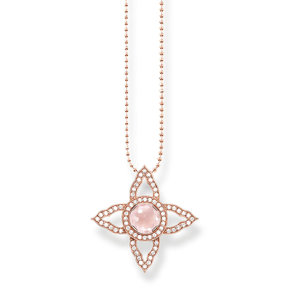 "Necklace ""Pink Flower Oriental"""