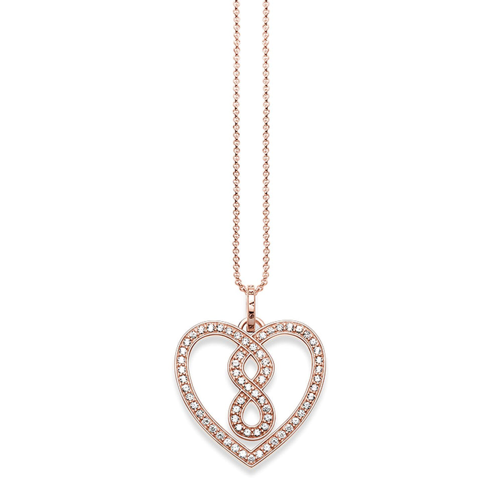 "Necklace ""Infinity Heart Pavé"""