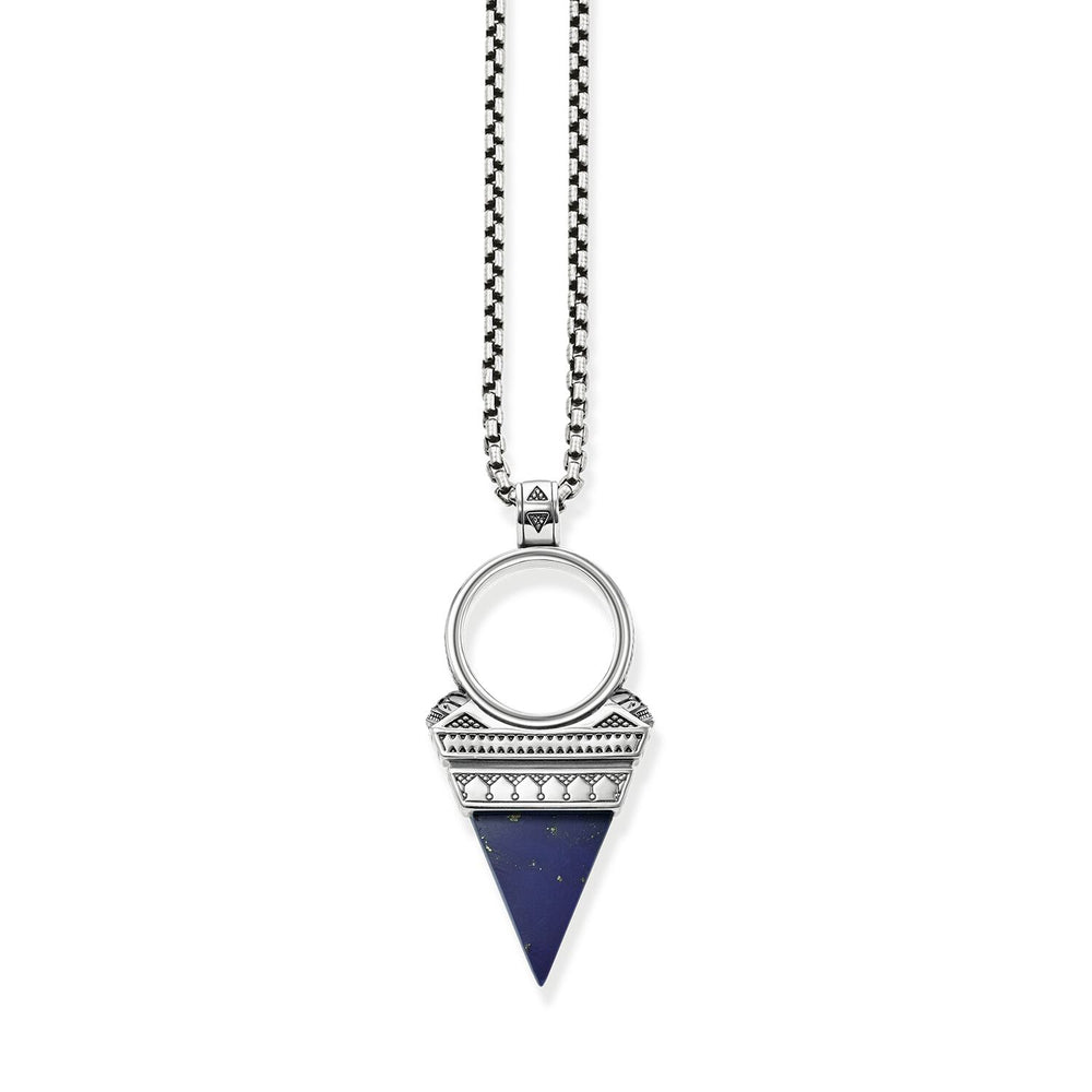 "Necklace ""triangle blue"""
