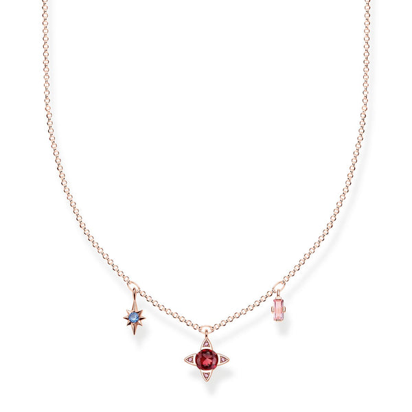 Necklace Lucky Symbols, Rose-coloured