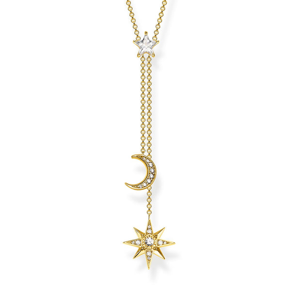 Necklace Star & Moon Gold