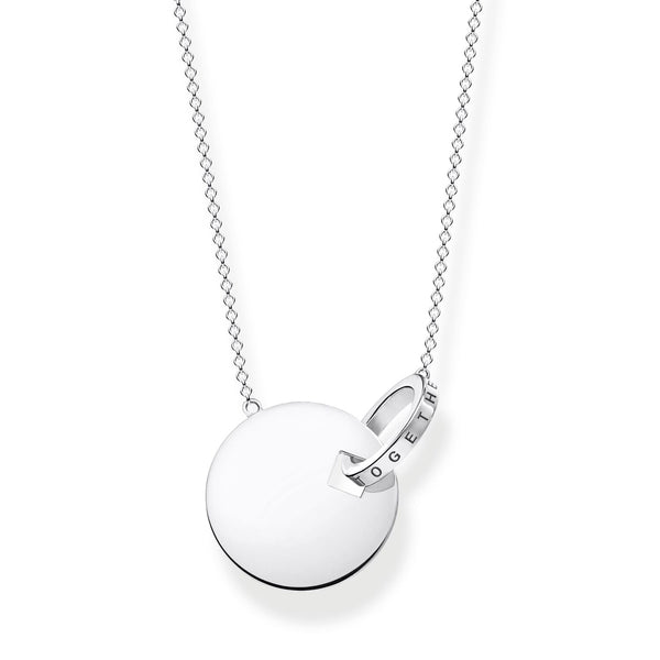 Necklace Together Coin With Silver-coloured Ring