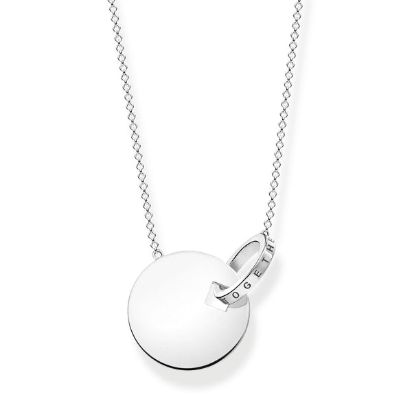 Necklace Large Together Coin With Silver-coloured Ring