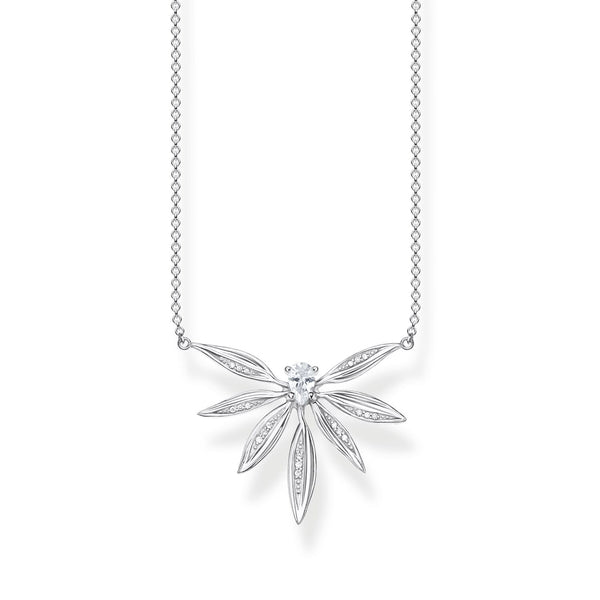Necklace Leaves Silver