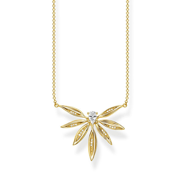Necklace Leaves Gold