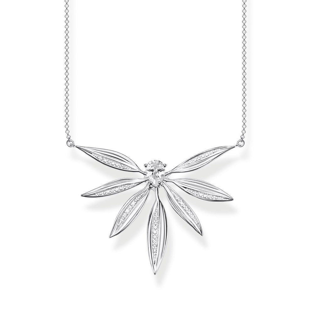 Necklace Leaves Large Silver