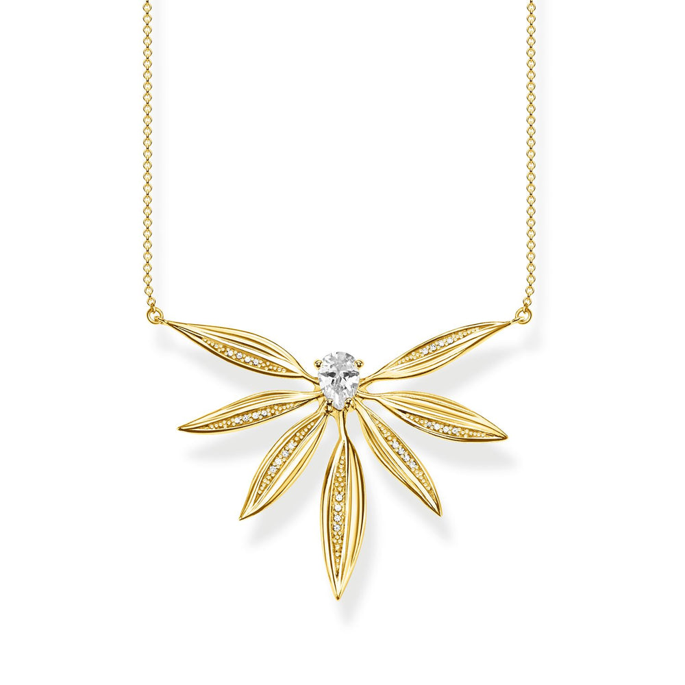 Necklace Leaves Large Gold