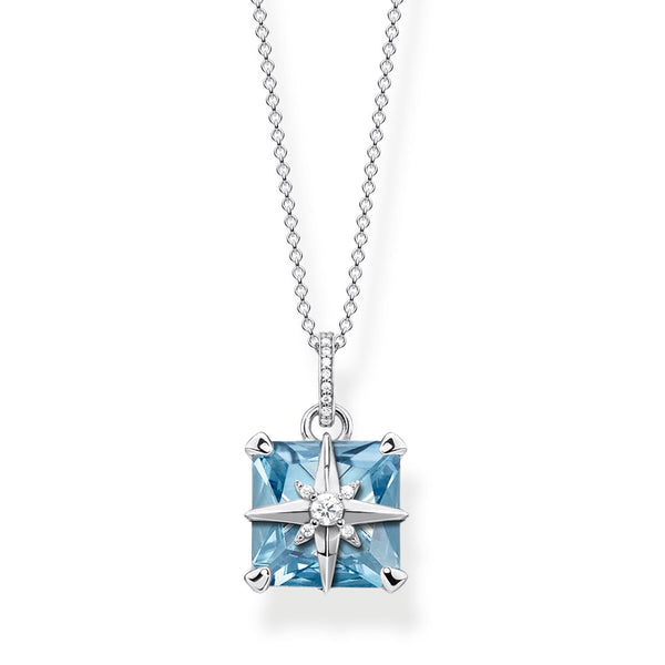 Necklace Blue Stone With Star