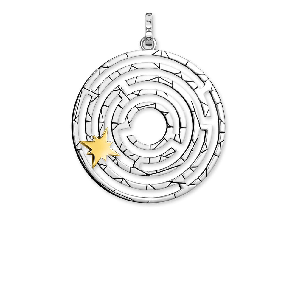 Pendant Labyrinth With Golden Star