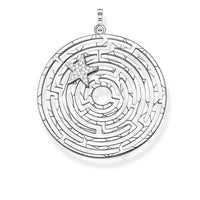 Pendant Labyrinth With Silver Star