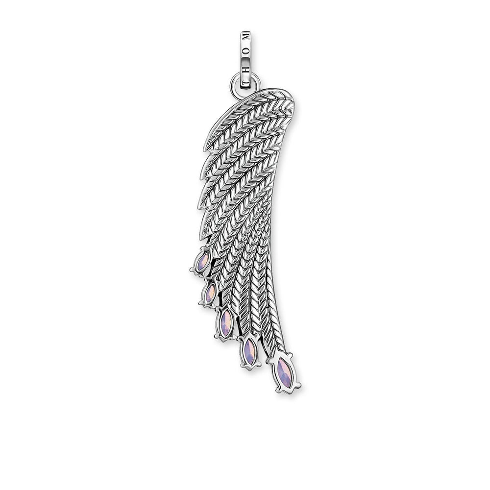 Pendant Bright Silver-coloured Hummingbird Wing