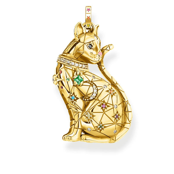 Pendant Cat Constellation Gold